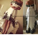 Women Satin Sleeveless Lace Evening Party Prom Dress