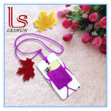 Universal Silicone Lanyard Cell Phone Neck Strap with ID Card Holder Phone Cover