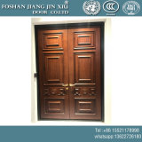 Wood Paint Stainless Steel Wrought Iron Security Double Door