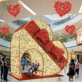 Christmas Giant 3D Arch Motif Lights for Shopping Mall Decorations