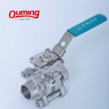 3 PC 4 Inch Fully Welded Stainless Steel Ball Valve Price