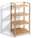 Solid Wood Coner Shelf Freestanding Kitchen Storage Rack