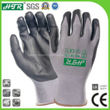 Knitted Oil-Proof Nitrile Coated Anti-Slip Abrasion Resistant Safety Work Gloves