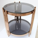 New Design Glass Coffee Table with Metal Frame