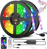 LED Strip Lights SMD5050/3528/2835 RGB Light Strip IP65 Color Changing Rope Lights Tape Lights 44keys Remote Controller for Room Kitchen Party Decoration