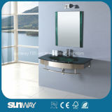 Hot Sell Tempered Glass Wash Basin Glass Cabinet