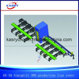 High Precision Rectangular Tube and C Channel Angle H I U Beam Profile Almighty Production Line Coping Cutting and Beveling Machinery