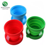 Collapsible Silicone Folding Cup with Lid for Campling Travel