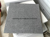 Padang Dark G654 Granite Flamed Tile for Outdoor Pavement