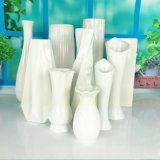 Unique Ceramic Flower Vase, Low Rectangular Modern Decorative Vase for Home Decor Living Room Office and Centerpieces Esg10435