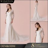 Lace Bridal Gowns Mermaid Long Sleeves Wedding Dresses