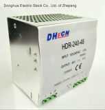 240W 100-240VAC to DC 24V 10A DIN Rail Switch Power Supply Hdr-240-24 Ce RoHS ISO9001