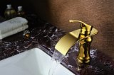 Luxury Single Handle Brass Bathroom Marble Basin Mixer Faucet (ZF-L-003C)