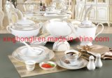 New Product, Kitchenware/Dinnerware/Tableware with Supper White, Golden&Silver Decals, Good Quality and Good Price with Beatufull Color Box and OEM
