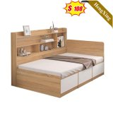 Foshan Modern Living Room Tatami Solid Wood Bed Double Design Style Home Bed
