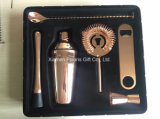 Shiny Copper Bartender Cocktail Shaker Kit with Gift Box