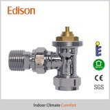 Polised Angle Thermostatic Radiator Valve Body (IDC-V09)