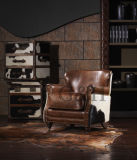 Latest Sofa Design Upholstery Leather Single Sofa Chair Armchair for Living Room