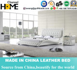 Fashion Modern Bedroom White Leather Bed (HC311)