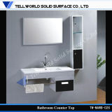 Artificial Stone Bathroom Vanity Wash Basin with Cabinet Design