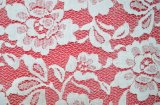 Solid White Flower New Mesh Lace Fabric Ls10025