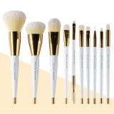 Brush Master Makeup Brushes Set for Foundation, Eyeshadow, Blush, Blending, Lip, Full Face Cosmetic Kit /Brush Holder, 10PCS