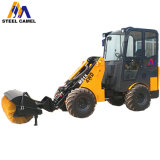 Skid Steer Wheel Loader Attachment Snow and Road Cleaning Rotary Brush Sweeper