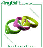 Silicon Wristband with Customized Color and Logo (LAG-WB-02)