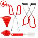 Canning Jar Lifter with Jar Tongs Large Collapsible Funnel Sponge Cleaning Brush Kitchen Canning Tool Set