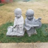 Little Novice Monk Sculptures Outdoor Sculptures Stone Carving