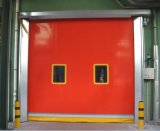 PVC Vinyl Fabric Rubber Fold up Fast Acting Quick Rolling Clean Room Rapid Automatic Industrial Garage Vertical Overhead Roll up Coiling Shtter High Speed Doors