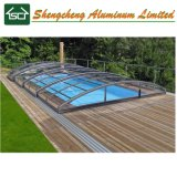 Top Grade Low Line Aluminum Swimming Pool Enclosure Cover with High Snow Load Roof