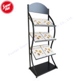 Folding Metal Floor Journal, Brochure, Catalogue, Poster Display Wire Magazine Holder Rack