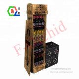 Custom Flooring 4-Tier Wine Store Wooden Wine Bottle Display Stand