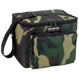 Camo Canvas Insulated Thermal Shoulder Cooler Bag (MS3115)