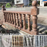 China White/Black/Red/Yellow/Golden/Brown Marble Granite Baluster for Porches/Staircases/Balcony