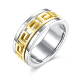 Foreign Trade Fashion Classical Two Double Stainless Steel Men Ring