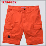 Simple Cotton Shorts for Men in Solid Color