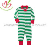 Red/Green Stripes Baby Christmas Romper Unisex Longalls