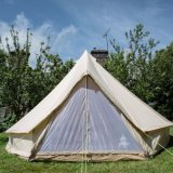 Outdoor Camping Waterproof Cotton Fabric Canvas Double Folding Camping Bed Yurt Glamping Tent