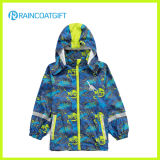 Cartoon 100% PU Kids Raincoat with Cotton Lining