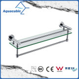 Wall Mount Chromed Stainless Steel Glass Shelf (AA9619B)