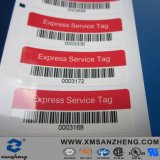 Express Service Semi Glossy Self Adhesive Sequential Numbering Barcodes Stickers