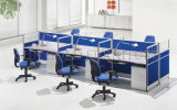 Straight Blue 6 Persons Office Workstation Table Cubicle Call Center (SZ-WS001)