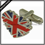 Custom Heart Cuff Link for Souvenir Gift (BYH-10235)