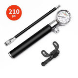 Bicycle Pump Portable Travel Tools Portable Bike Bicycle Cycling Tire Air Pump with 210psi Pressure Gauge Esg13238
