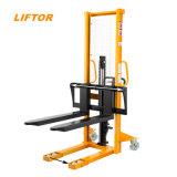 China Supplier 1000kg 2000kg 3000kg Manual Hand Stacker Forklift Price
