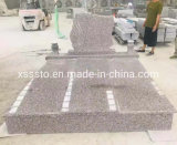 Cheap Price New G664 Granite Single/Double Tombstone with Poland/European Style