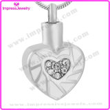 Ashes Into Jewellery Heart Pendants with Crystals Ijd9673