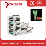 Four Color Paper Drinking Straw Roll Label Flexo Printing Machine